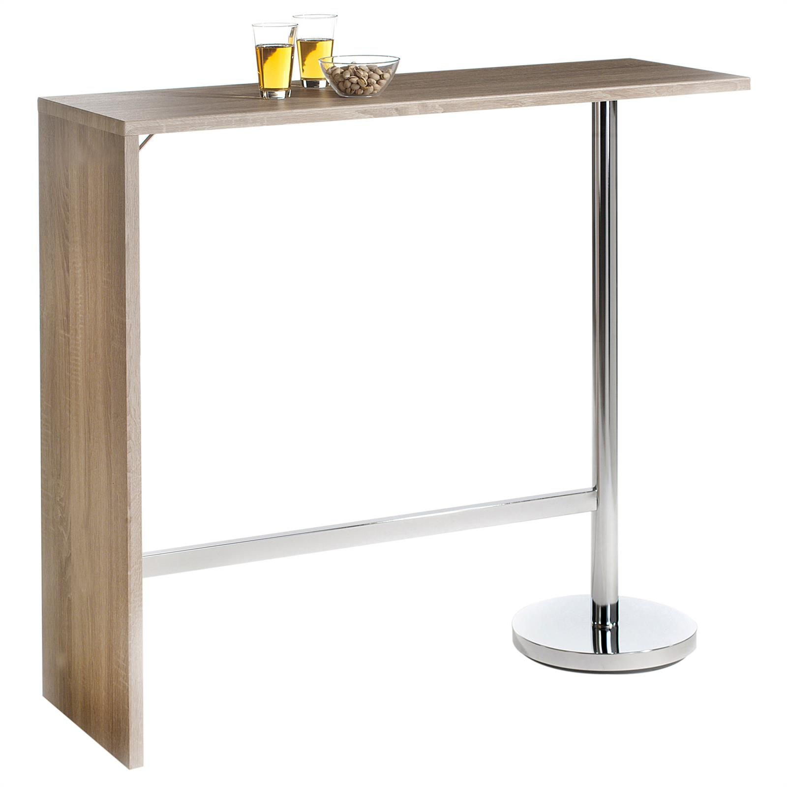 table haute de bar mange debout mdf 3 coloris disponibles ebay. Black Bedroom Furniture Sets. Home Design Ideas