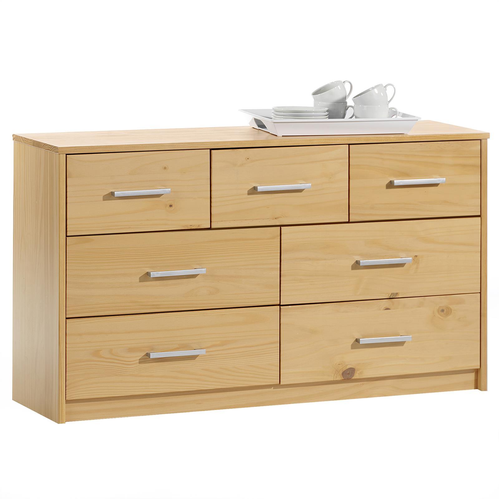 Buffet-commode-rangement-7-tiroirs-pin-massif-3-coloris-disponibles