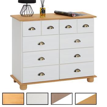 colmar commode en pin 8 tiroirs mobil. Black Bedroom Furniture Sets. Home Design Ideas
