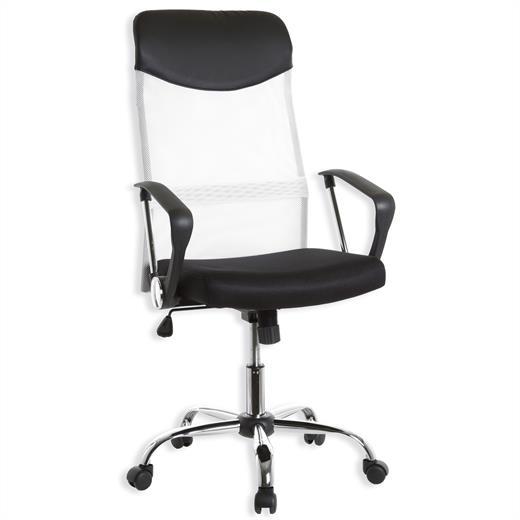Fauteuil chaise de bureau avec accoudoirs hauteur r glable - Chaise mi hauteur ...