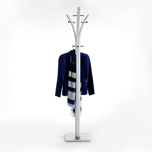 portant v tements porte manteaux penderie chrom laqu blanc. Black Bedroom Furniture Sets. Home Design Ideas