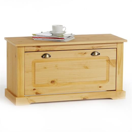 banc coffre a chaussures pin finition cir e neuf ebay. Black Bedroom Furniture Sets. Home Design Ideas