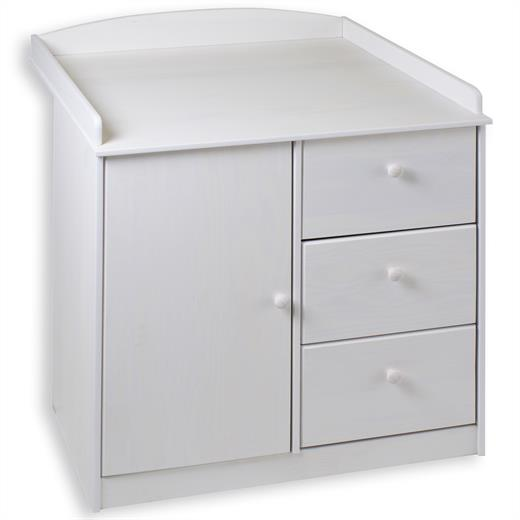 Table a langer b b commode lasur blanc neuf ebay - Commode table a langer bebe kitty blanc ...