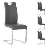 Lot de 4 chaises SABA, en synthétique gris