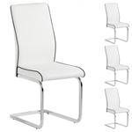 Lot de 4 chaises JIMENA, en synthétique blanc