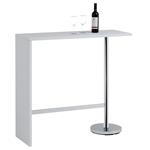 Table haute de bar RICARDO, blanc mat