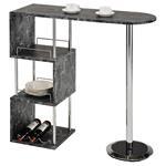 Table haute de bar VIGANDO, décor marbre noir