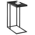 Table d'appoint rectangulaire DEBORA, en métal noir et décor noir mat