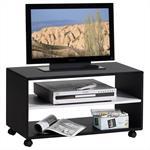 Meuble TV ATLANTA, noir/blanc