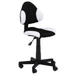Chaise de bureau pour enfant ALONDRA, noir/blanc