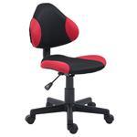 Chaise de bureau pour enfant ALONDRA, noir/rouge
