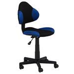 Chaise de bureau pour enfant ALONDRA, noir/bleu