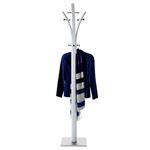 Porte-manteaux DENIS 8 portants, en métal laqué blanc