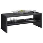 Table basse / Meuble TV LOUNA, en mélaminé décor gris cendré
