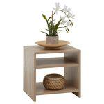 Table d'appoint LIVORNO, en mélaminé décor chêne sonoma