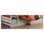 Lot de 2 tiroirs pour lit superposé FELIX, 90 x 200 cm, lasuré blanc