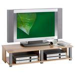 Meuble TV GERO, 2 niches, décor chêne sonoma