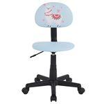 Chaise de bureau pour enfant ALPACA, revêtement synthétique bleu clair avec motif lama