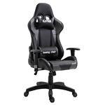 Chaise de bureau GAMING, revêtement synthétique noir et gris