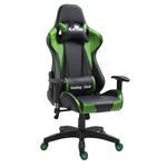 Chaise de bureau GAMING, revêtement synthétique noir et vert