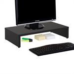 Support d'écran d'ordinateur MONITOR, en mélaminé noir mat