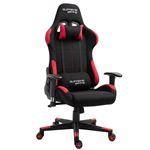 Chaise de bureau gaming SWIFT, revêtement en tissu noir et rouge