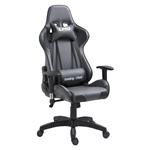 Chaise de bureau GAMING, revêtement synthétique gris et noir