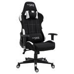 Chaise de bureau gaming SWIFT, revêtement en tissu noir et blanc