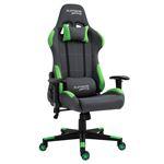 Chaise de bureau gaming SWIFT, revêtement en tissu gris et vert