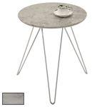 Table d'appoint BENNO, avec pieds en épingle métal chromé