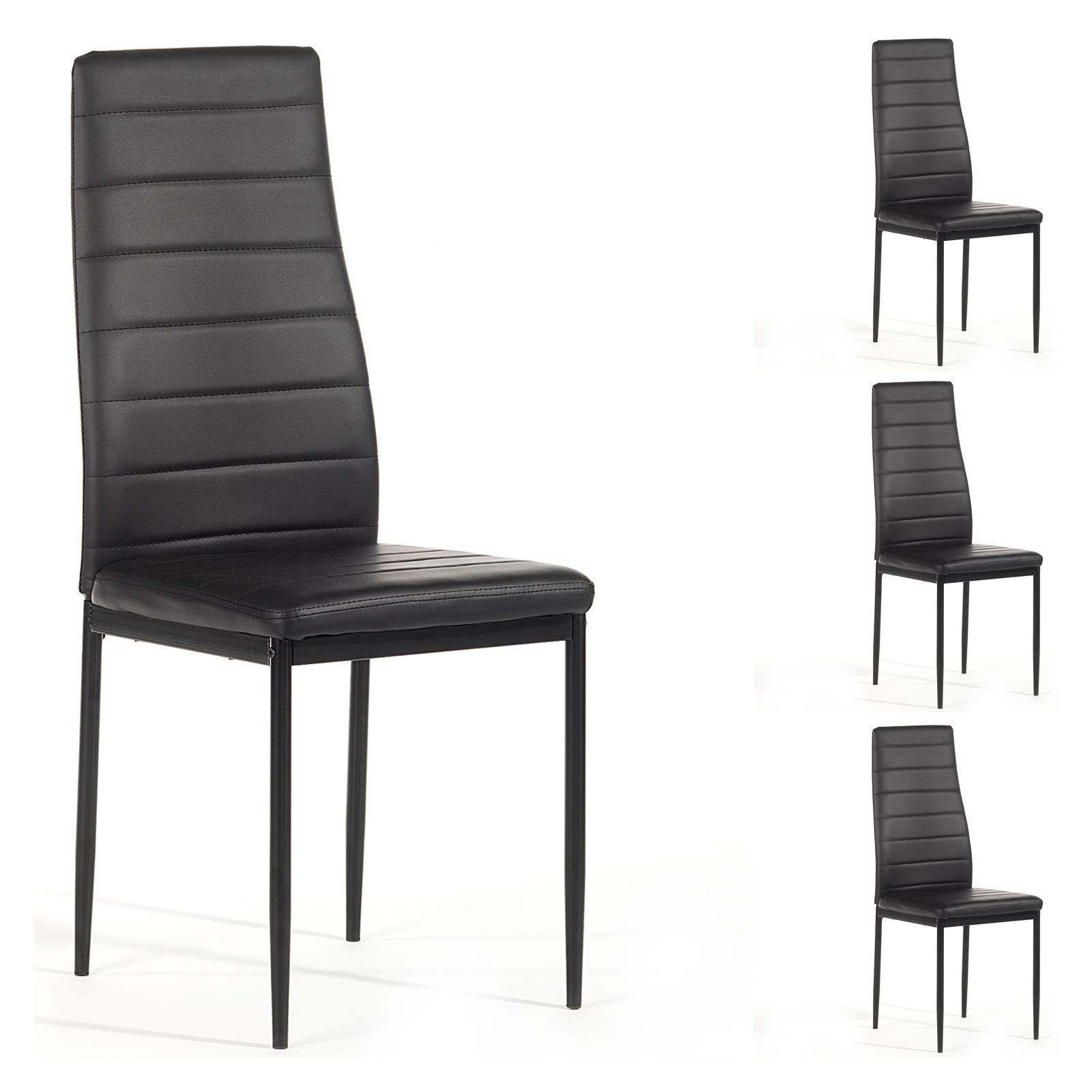 lot de 4 chaises mamba noir mobil meubles. Black Bedroom Furniture Sets. Home Design Ideas