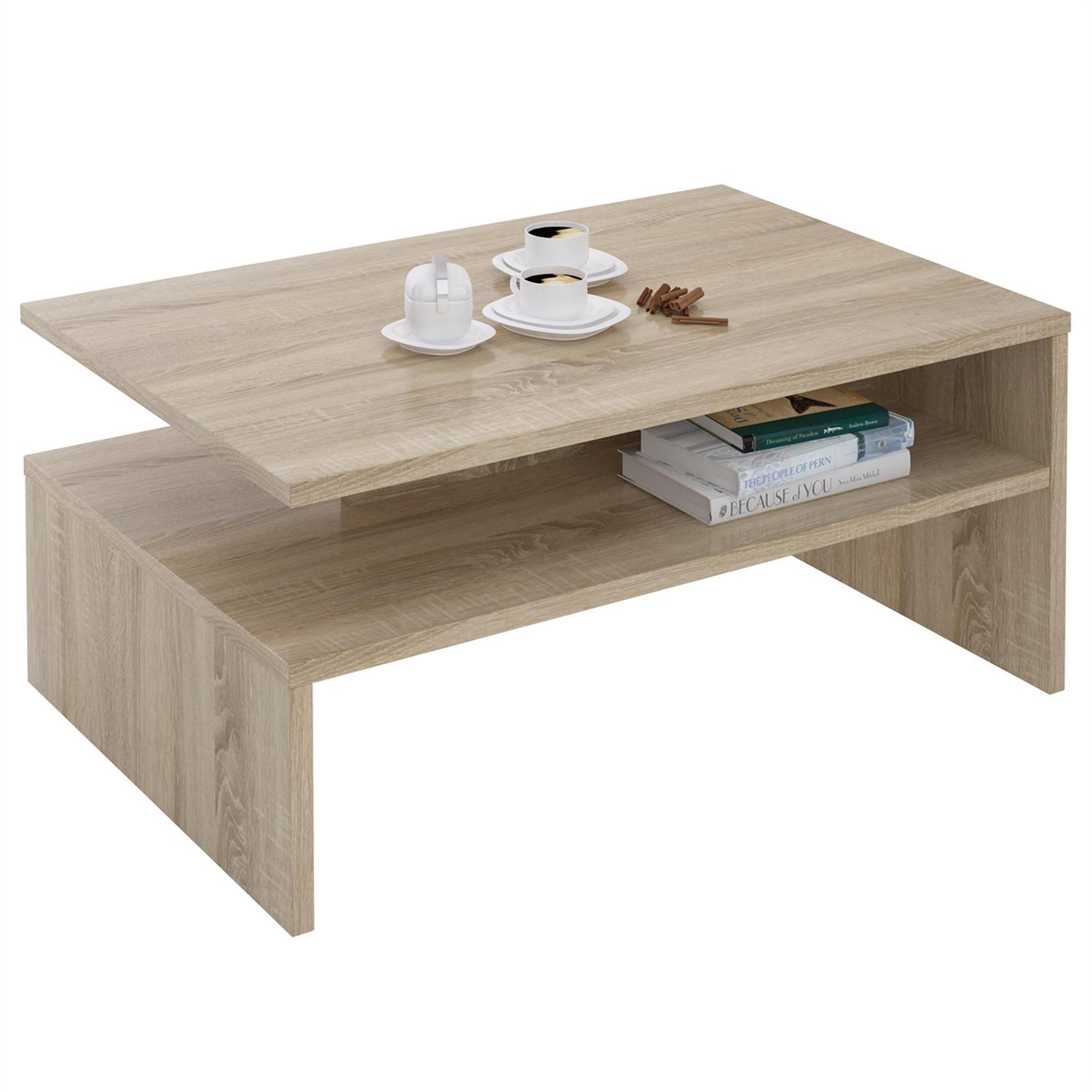Table basse adelaide m lamin ch ne sonoma mobil meubles for Table basse sonoma