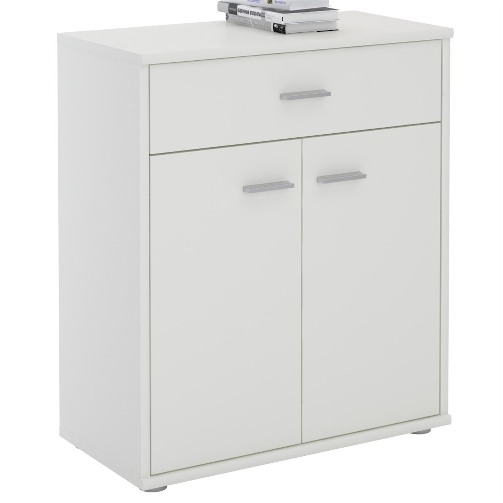Commode monaco m lamin blanc mobil meubles for Meuble melamine blanc