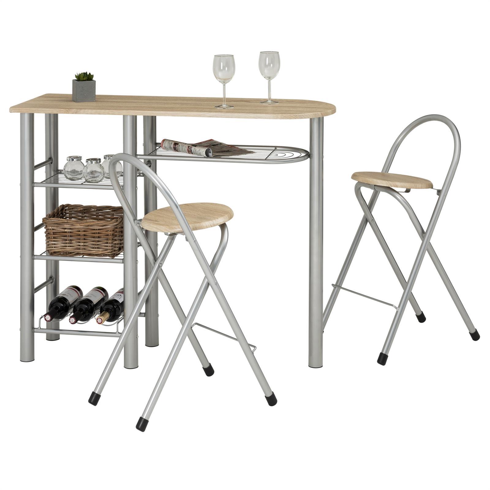 Ensemble table haute de bar et 2 chaises STYLE, décor ...