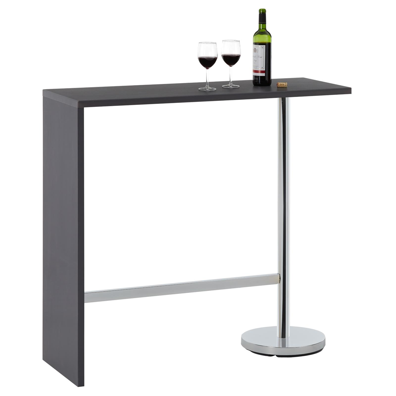 table haute de bar ricardo gris mat mobil meubles. Black Bedroom Furniture Sets. Home Design Ideas