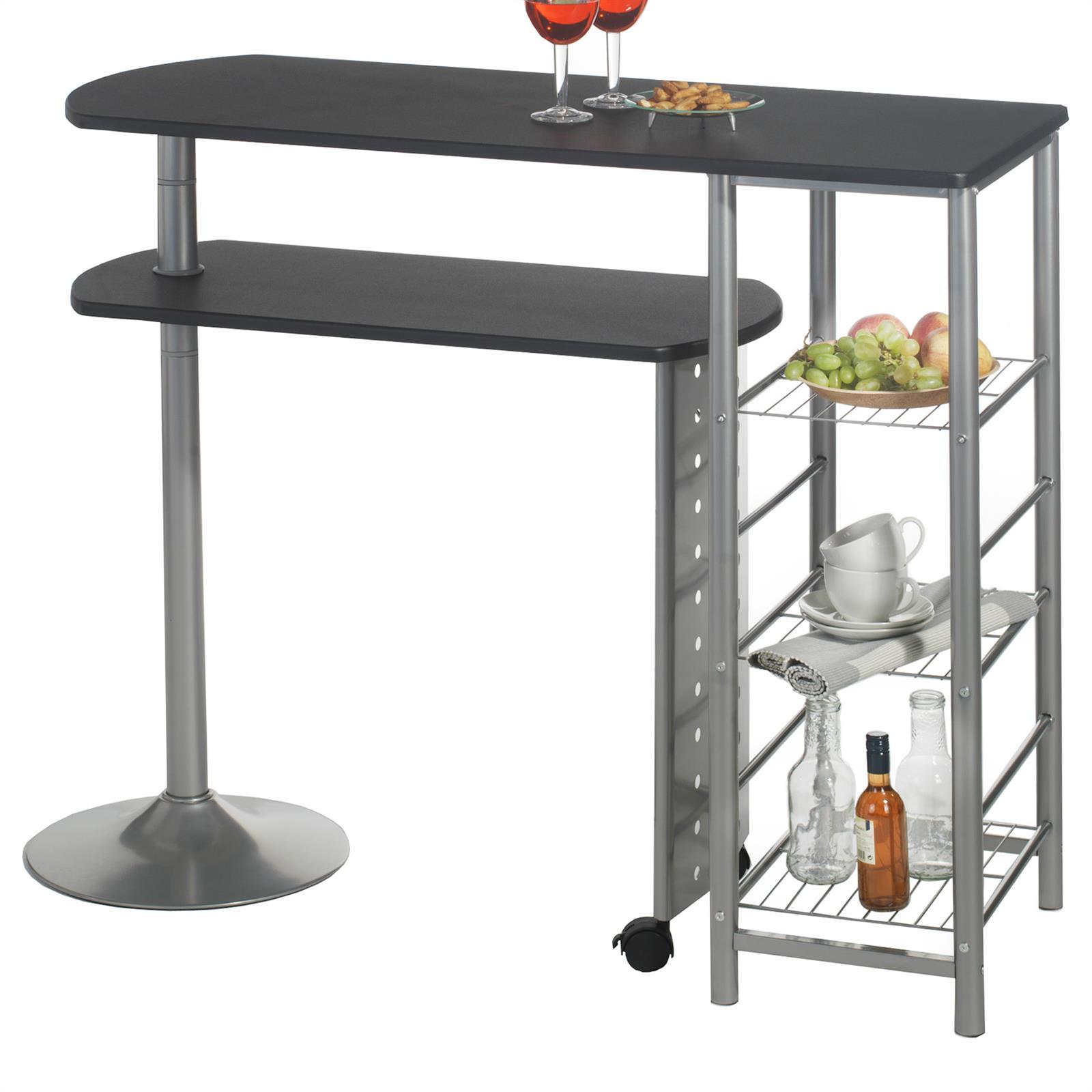 table haute de bar josua d cor noir mobil meubles. Black Bedroom Furniture Sets. Home Design Ideas