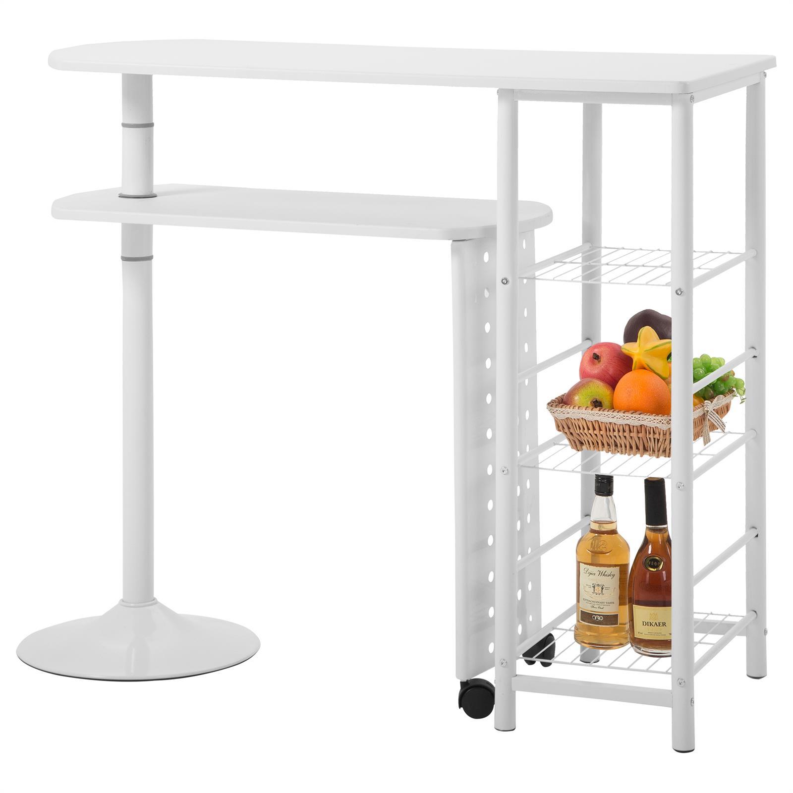 Table haute de bar josua d cor blanc et laqu blanc - Table bar blanc laque ...