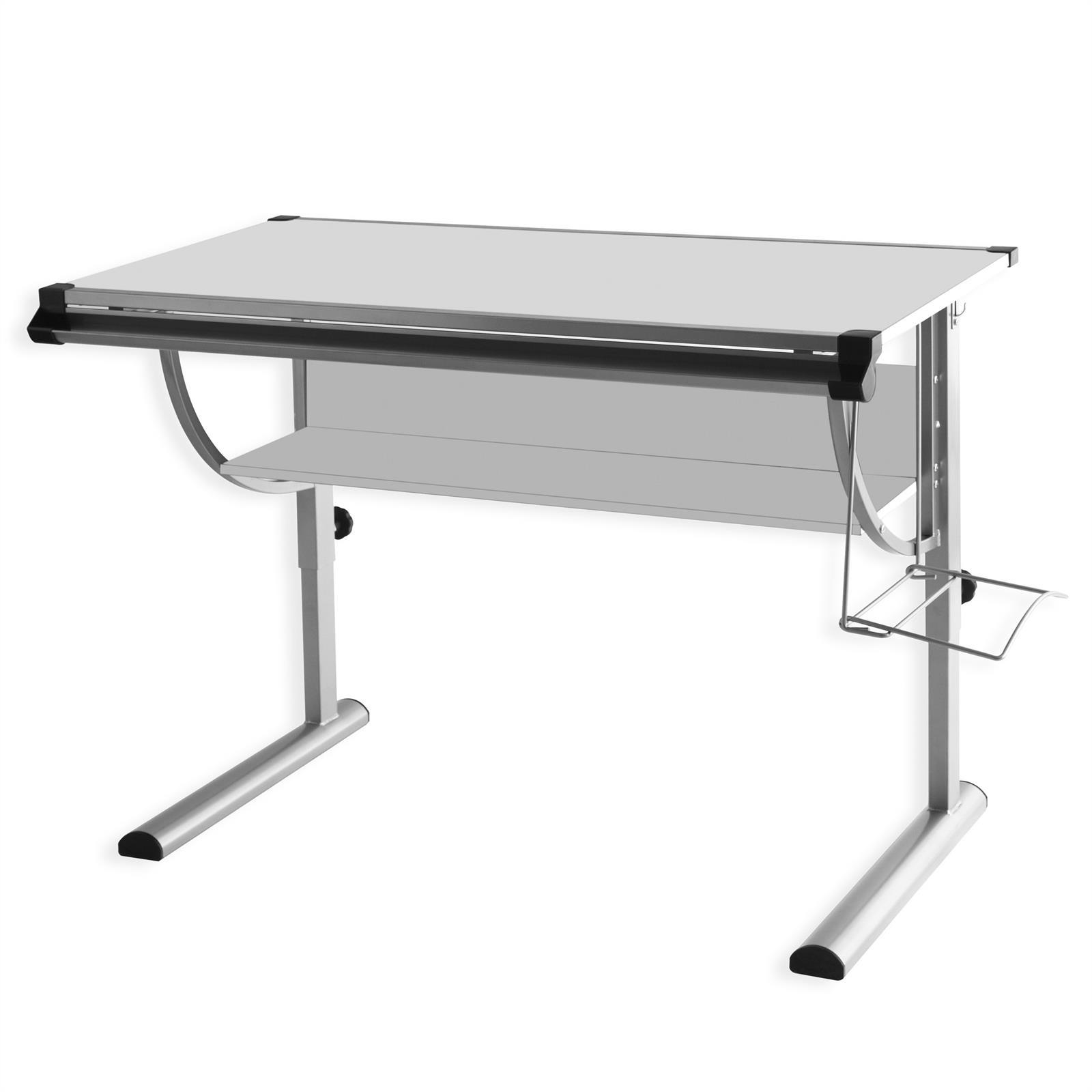bureau enfant cindy r glable en hauteur et plateau inclinable gris mobil meubles. Black Bedroom Furniture Sets. Home Design Ideas