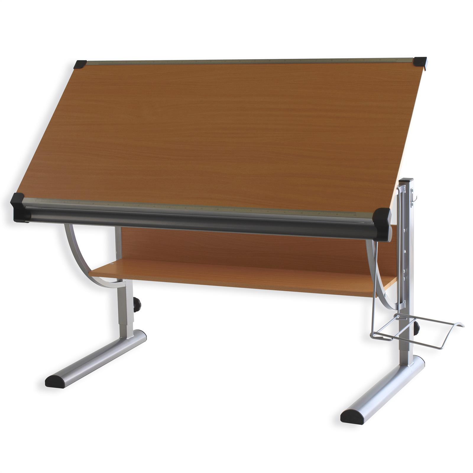 bureau enfant christina r glable en hauteur et plateau inclinable d cor h tre mobil meubles. Black Bedroom Furniture Sets. Home Design Ideas