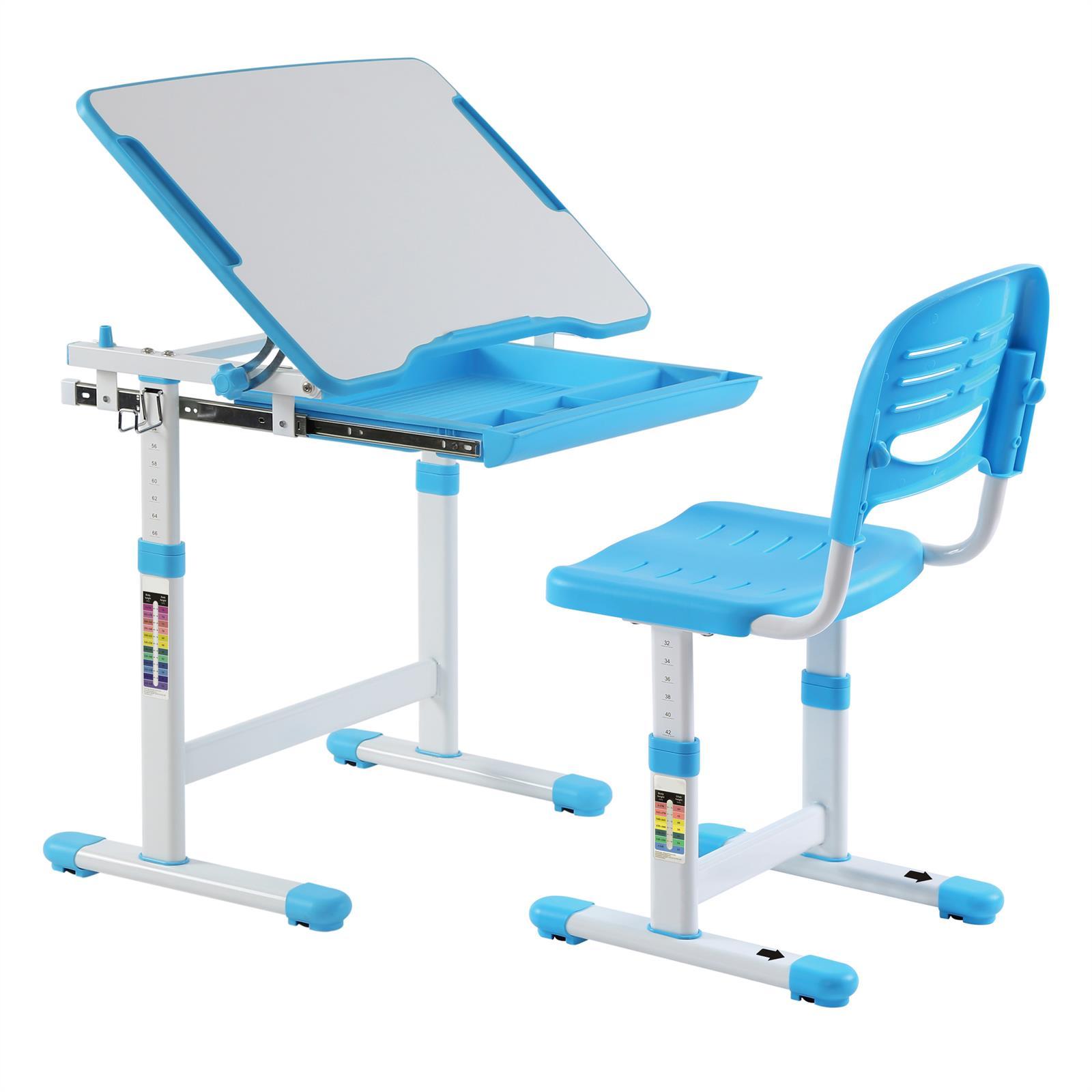 ensemble bureau et chaise pour enfant alumno bleu. Black Bedroom Furniture Sets. Home Design Ideas
