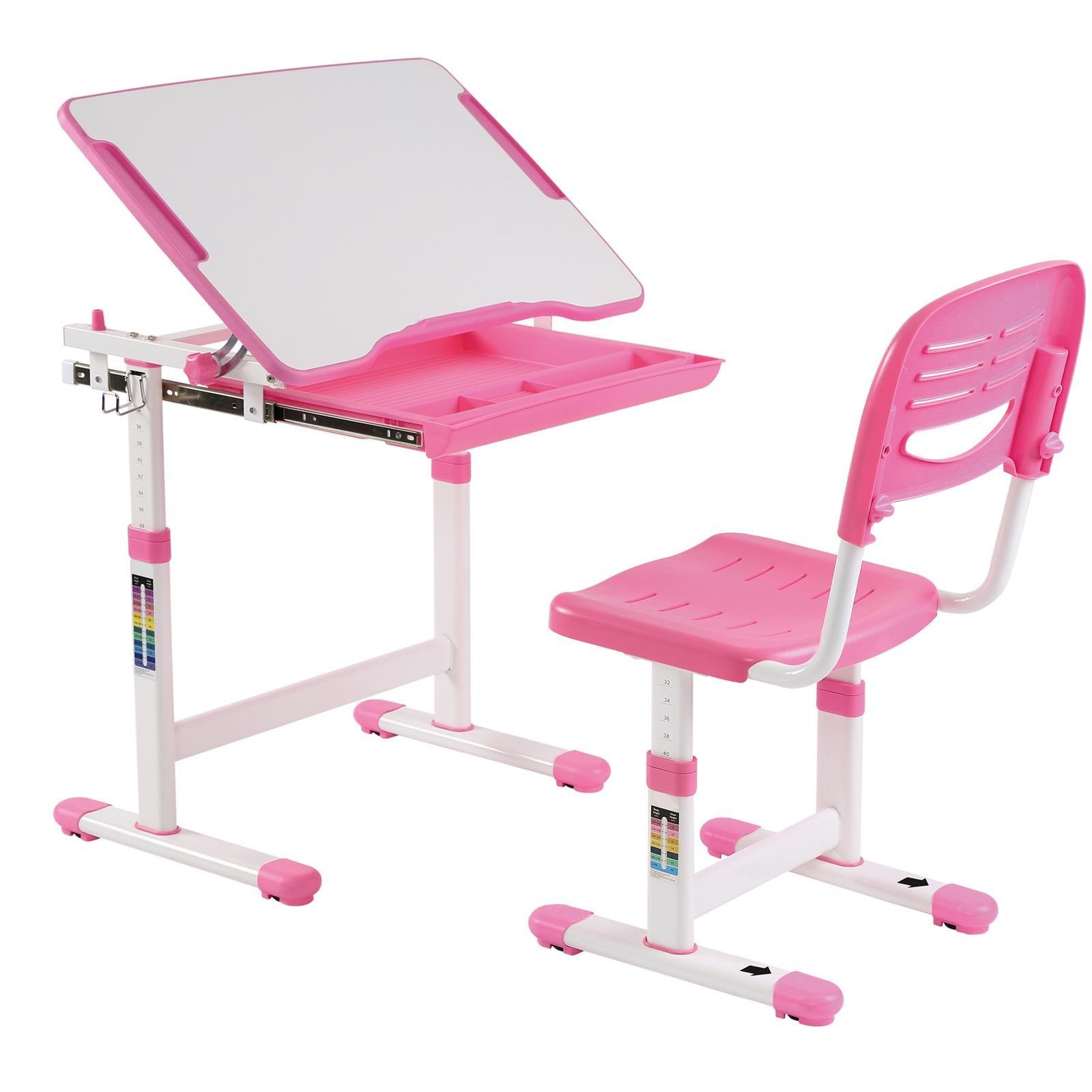 ensemble bureau et chaise pour enfant alumno rose. Black Bedroom Furniture Sets. Home Design Ideas