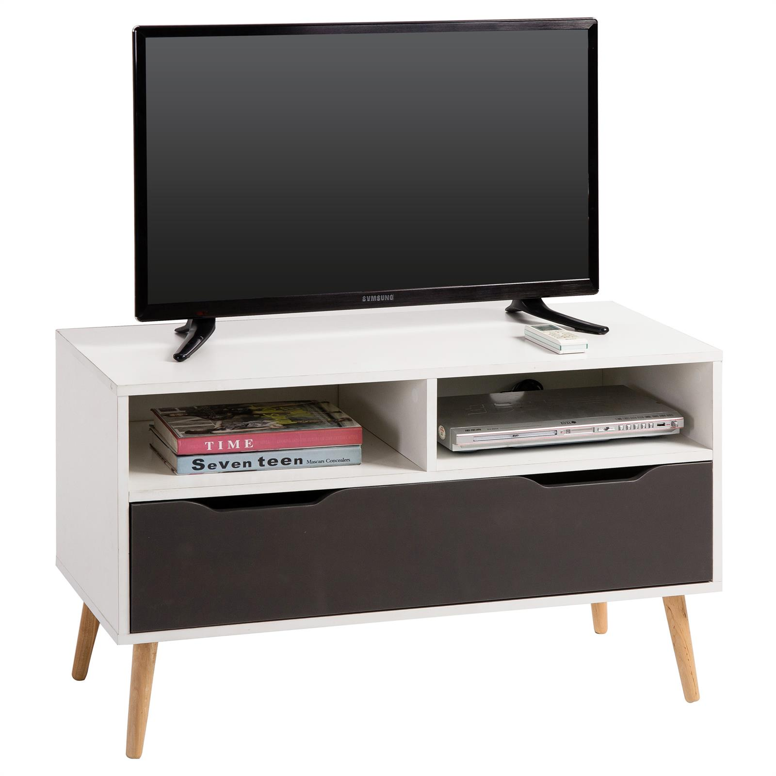 meuble tv genova blanc mat et gris mat mobil meubles. Black Bedroom Furniture Sets. Home Design Ideas