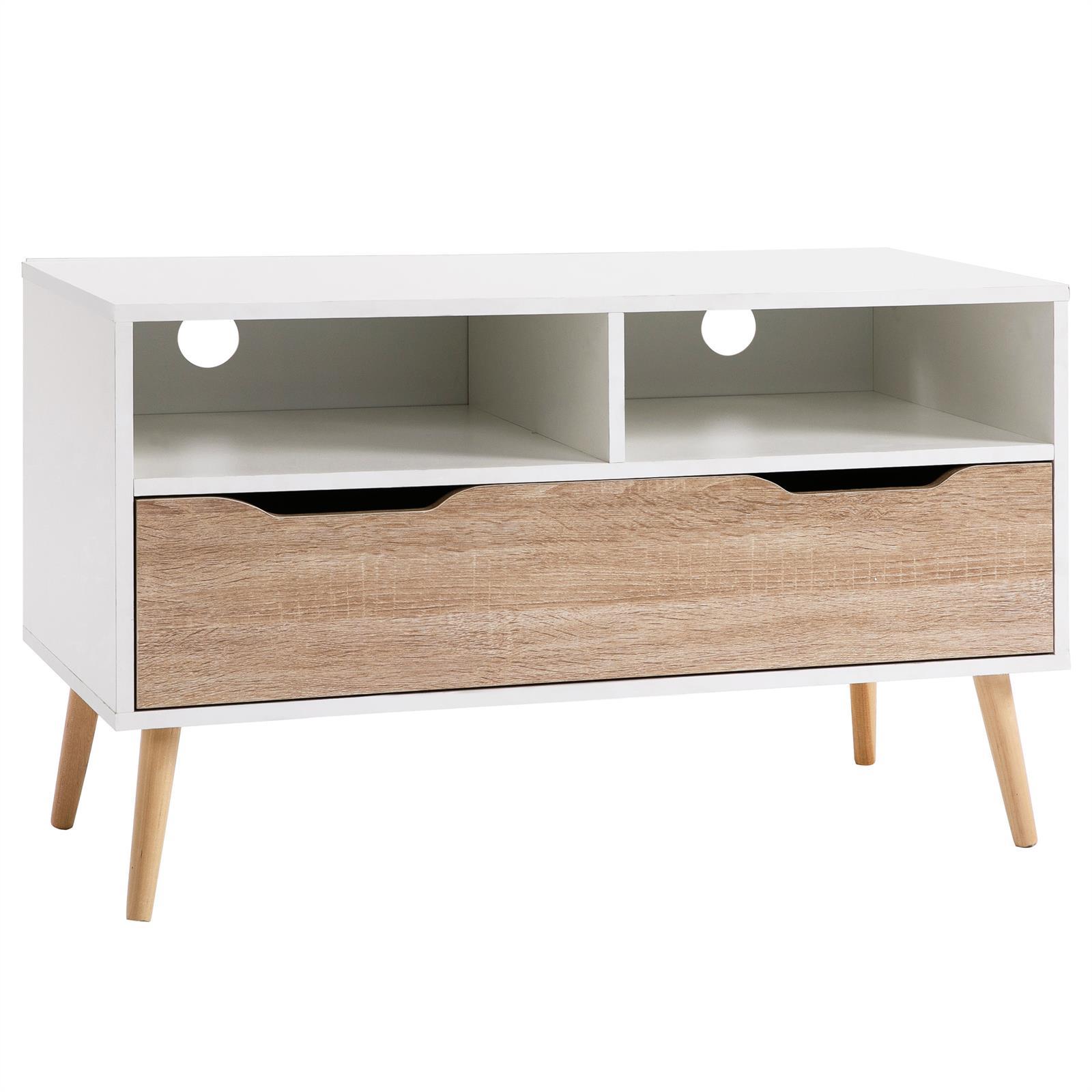 Meuble tv genova blanc mat et ch ne sonoma mobil meubles for Meuble sonoma