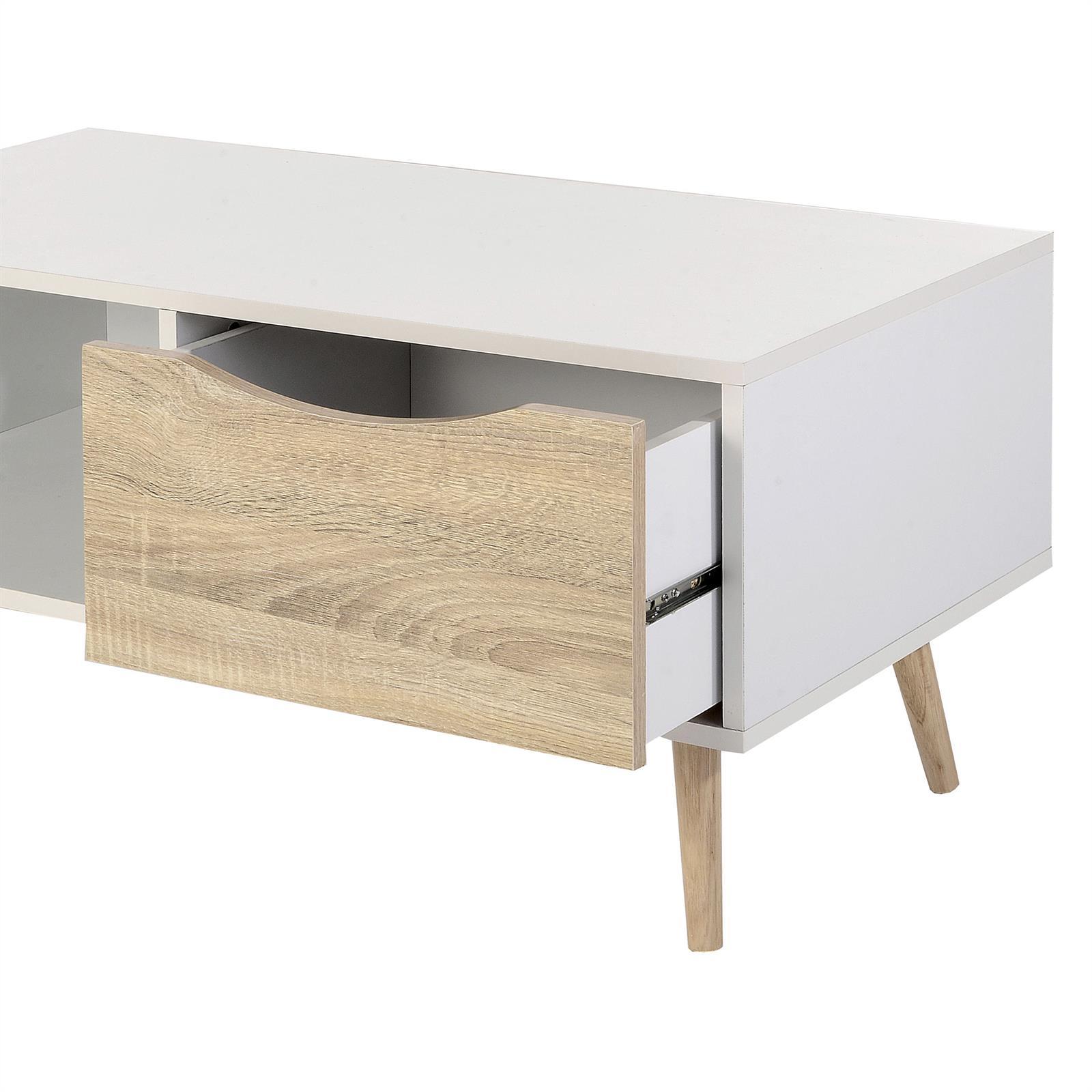 Meuble tv imperia d cor blanc et sonoma mobil meubles for Meuble sonoma
