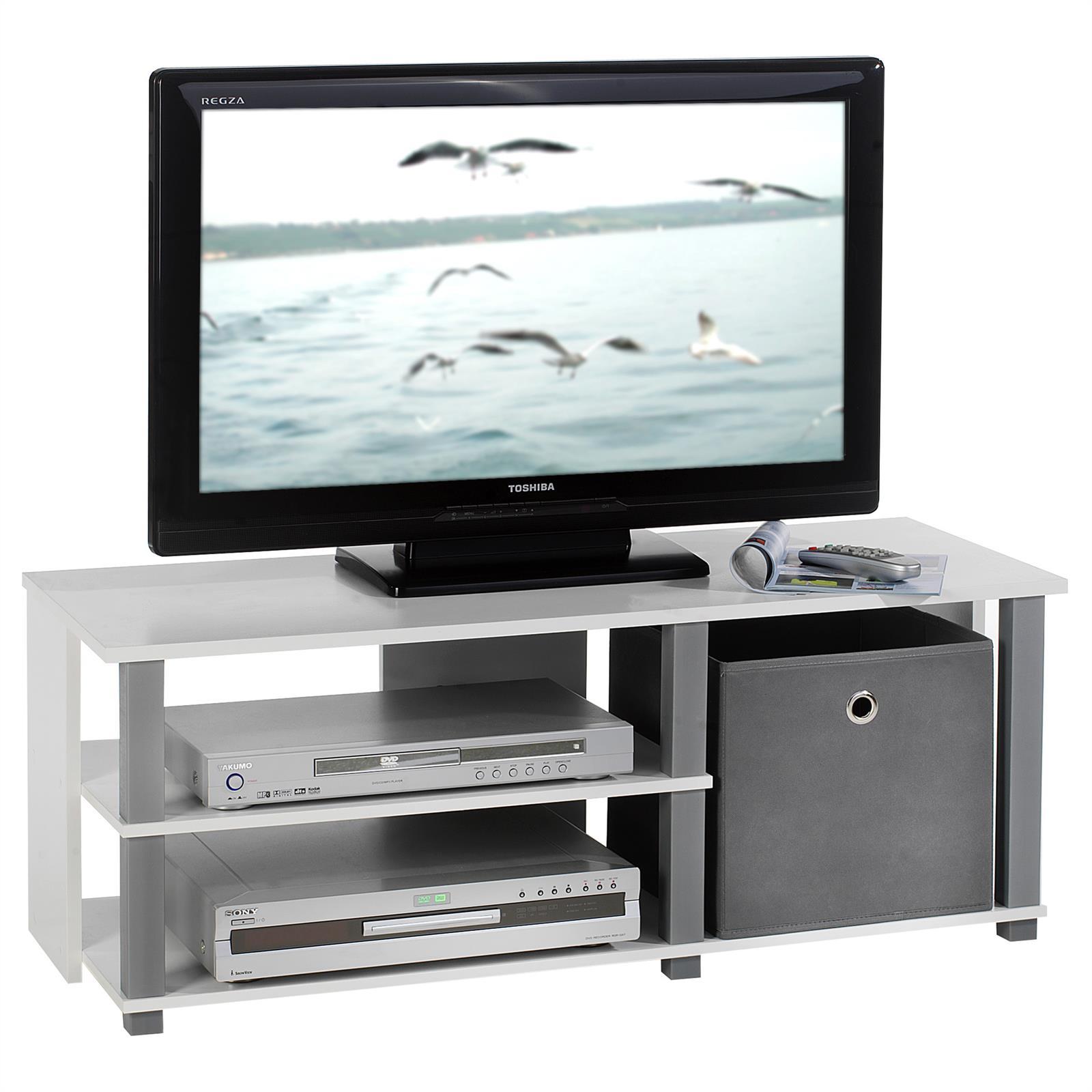 Meuble tv denver blanc et gris mobil meubles for Meuble tv blanc et gris