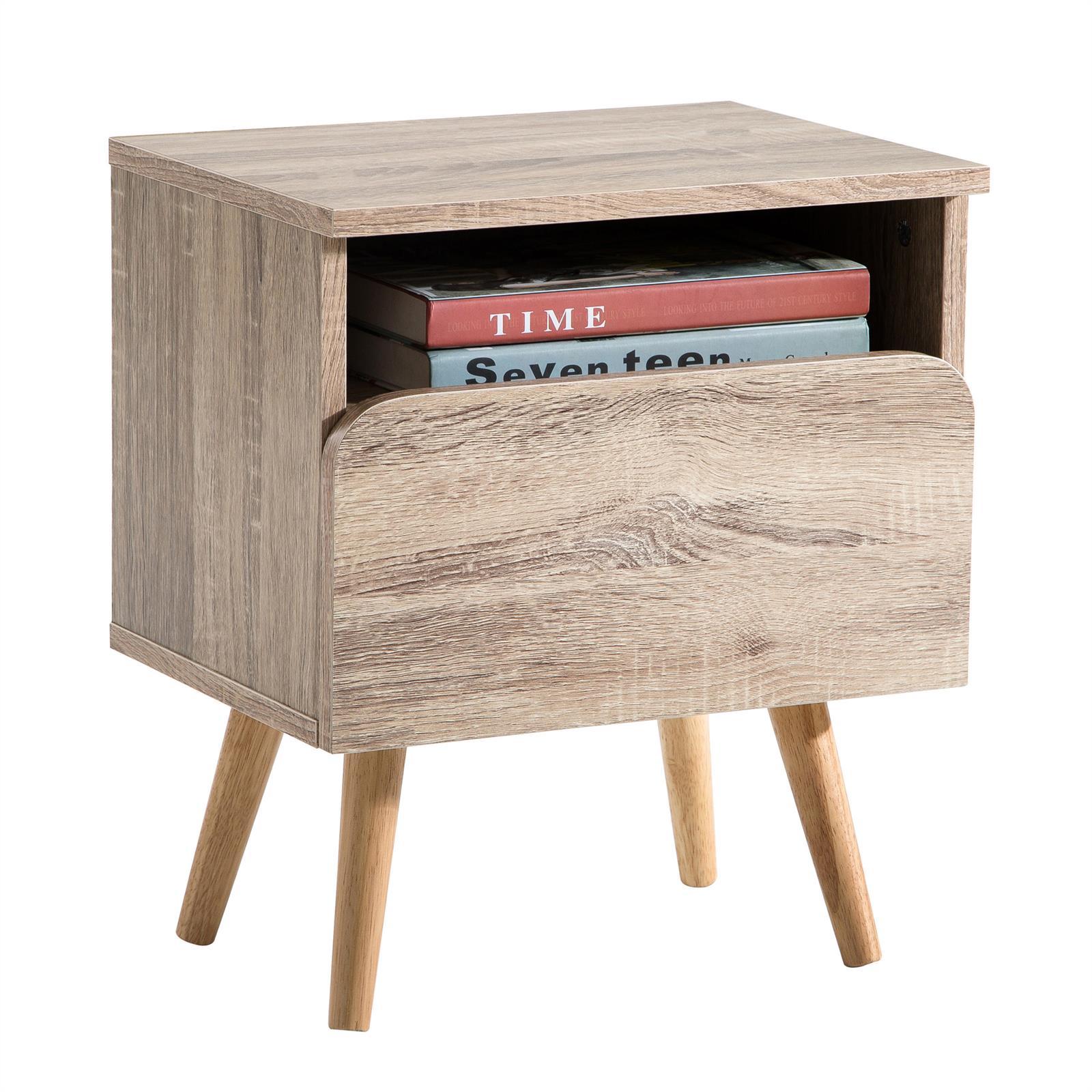 table de chevet giorgia d cor ch ne sonoma mobil meubles. Black Bedroom Furniture Sets. Home Design Ideas