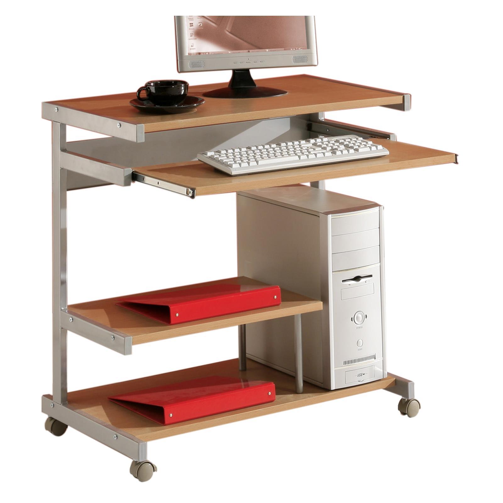 Bureau ordinateur joker d cor h tre mobil meubles for Meuble bureau hetre