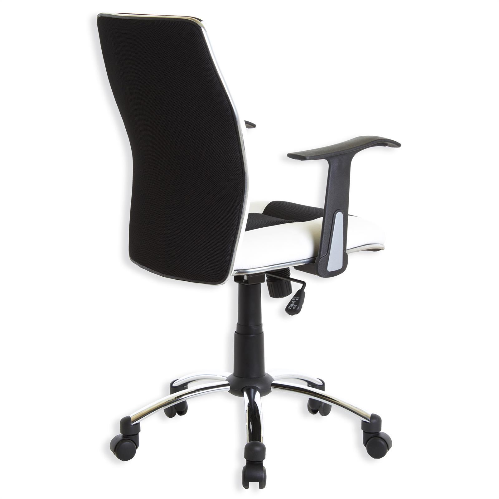 fauteuil de bureau dirk avec accoudoirs noir blanc. Black Bedroom Furniture Sets. Home Design Ideas