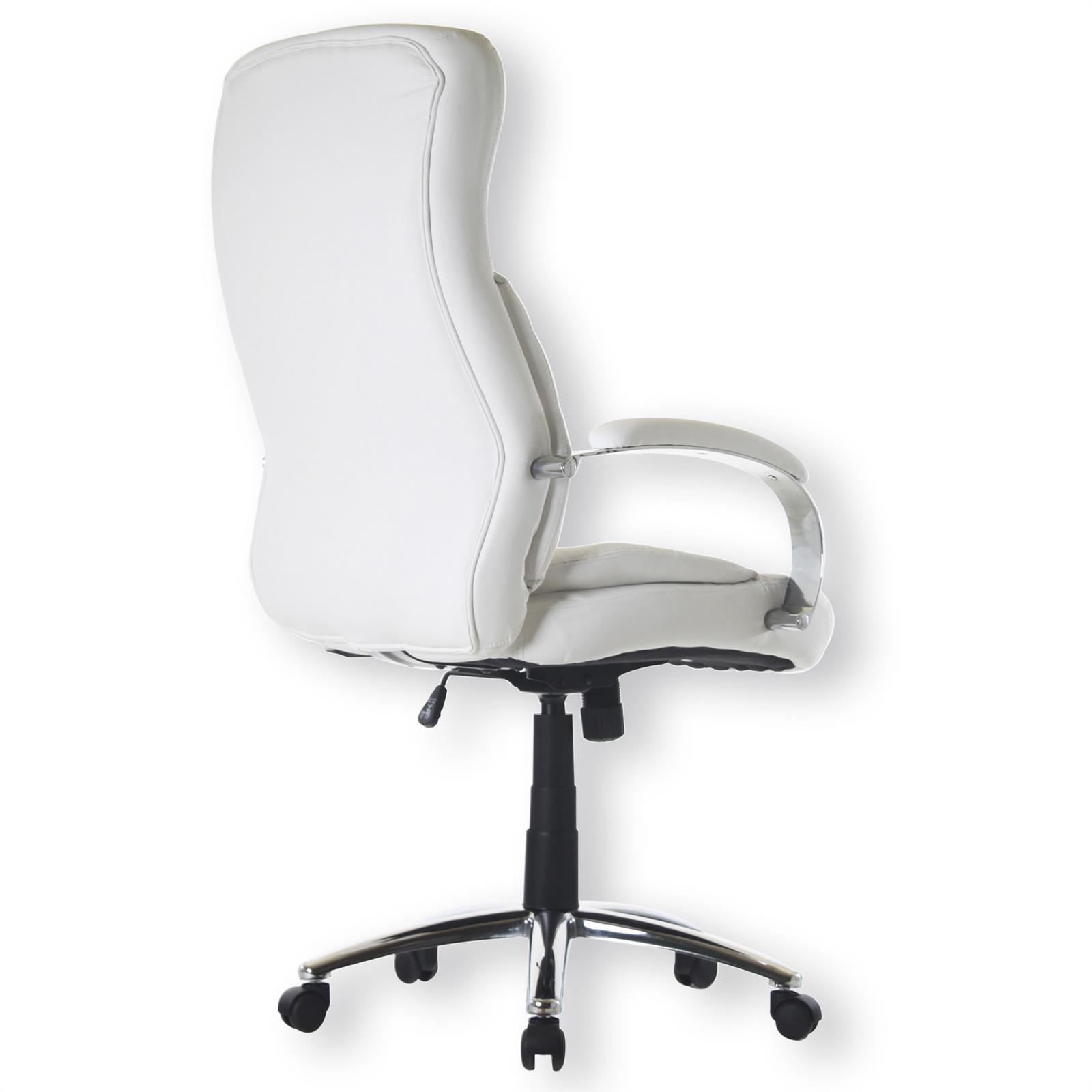 Fauteuil de bureau consul 2 avec accoudoirs blanc mobil meubles - Fauteuil bureau blanc ...