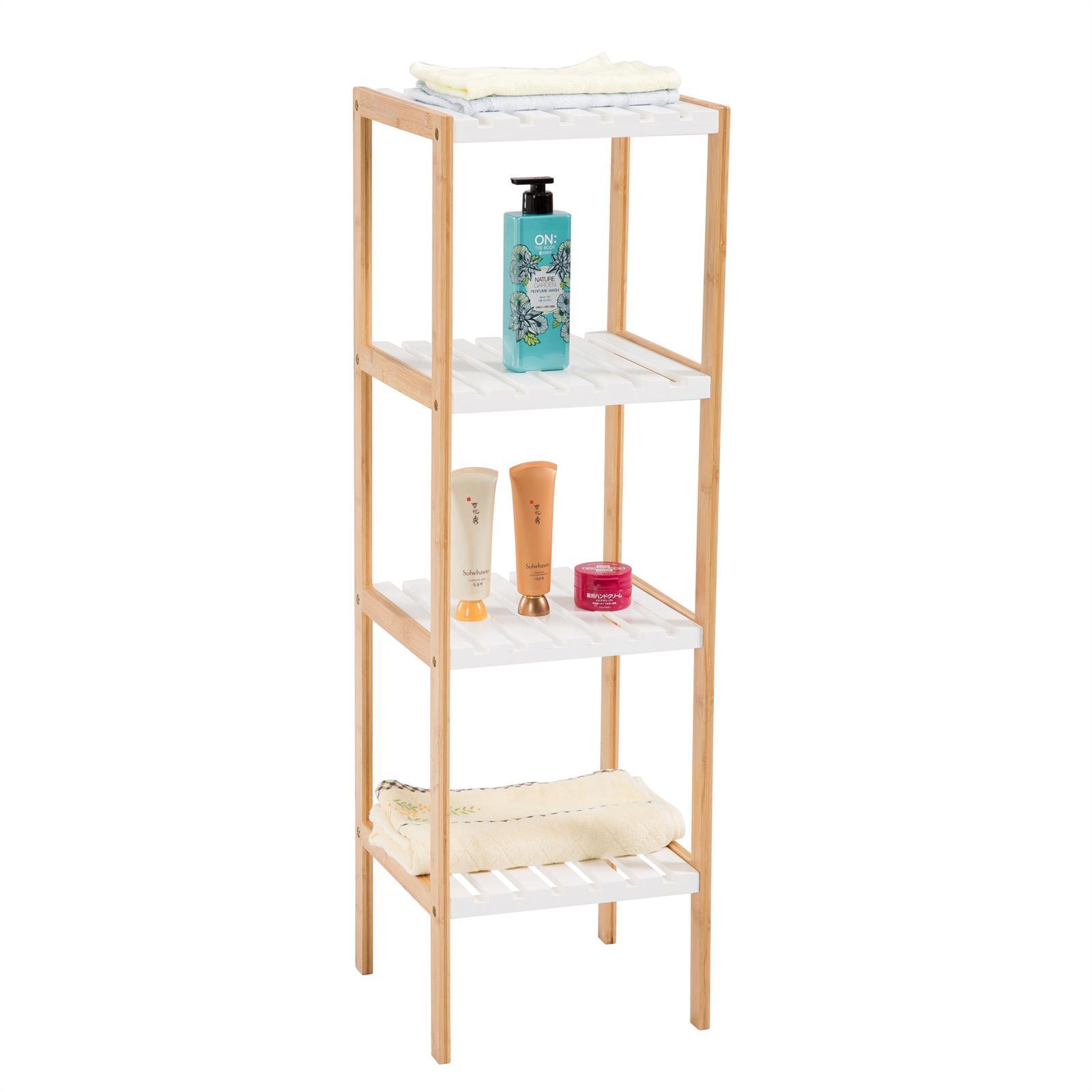 etag re de salle de bain sur pied plusieurs tablettes en. Black Bedroom Furniture Sets. Home Design Ideas